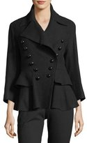 Burberry Double-Breasted Peplum Coat
