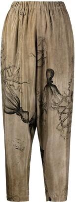 UMA WANG Octopus-Print Tapered Trousers