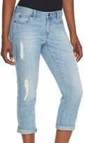 JLO by Jennifer Lopez Women's Ripped Denim Capris