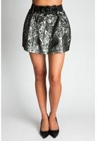 Metallic Floral Skirt
