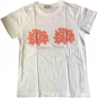 Yazbukey White Cotton Top for Women