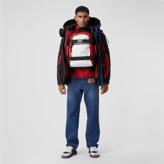 Burberry Relaxed Fit Reconstructed Washed Denim Jeans