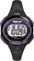 Timex Women's T5K523GP Ironman Traditional 10-Lap Black Resin Strap Watch