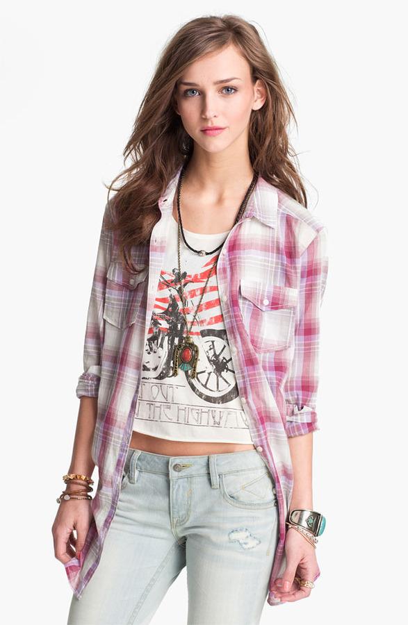 Rubbish Plaid Tunic Shirt (Juniors)