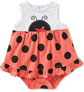 Starting Out Baby Girls Newborn-9 Months Polka Dot Ladybug Bodysuit