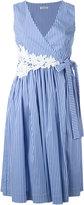 P.A.R.O.S.H. Cruise wrapped dress - women - Cotton/Polyamide/Spandex/Elastane - XS