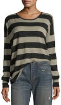 Vince Wide-Striped Long-Sleeve Oversized Tee