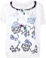 Forte Forte floral embroidery blouse - women - Linen/Flax/Polyester/Viscose - 38