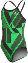 adidas Girls' Sport DNA Vortex Back One Piece Swimsuit 8150194
