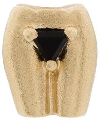 Anissa Kermiche 9kt yellow gold Pubis onyx single earring