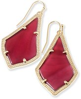 Kendra Scott Signature Alex Earrings in Gold Plated and Burgundy Illusion