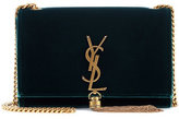 Saint Laurent Classic Monogram velvet shoulder bag