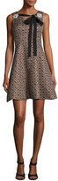 Creatures of the Wind Sleeveless Floral Jacquard Tie Dress, Bronze