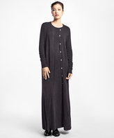 Brooks Brothers Cashmere Full-Length Duster Cardigan