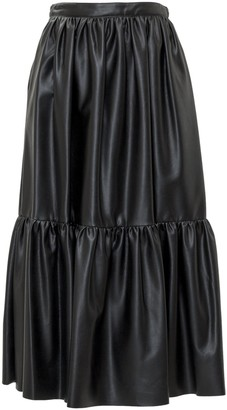 Pinko Asterismo 1 Faux Leather Skirt