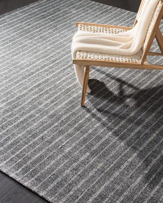 Lauren Ralph Lauren Miles Charcoal Stripe Flat Weave Rug, 2.6' x 8'