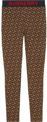 Burberry Monogram Print Stretch Leggings