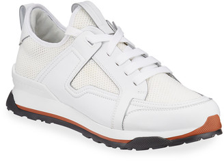 Ermenegildo Zegna Men's Siracusa Mesh & Leather Trainer Sneakers