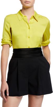Diane von Furstenberg Samson Silk Button-Down Blouse