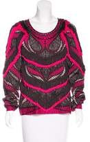 Herve Leger Everly Jacquard Sweater