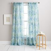 DKNY Modern Botanical Window Curtain Panel in Aqua