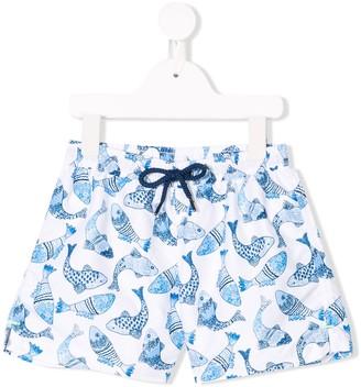 Sunuva Fish Print Swim Shorts