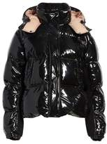 Moncler Gaura Shiny Down Quilted Puffer Coat