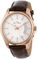 Lucien Piccard Men's 98660-RG-02S Excalibur Textured Dial Brown Leather Watch
