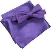 Alfani Men's Purple Pre-Tied Bow Tie and Pocket Square Set, Created for Macy's
