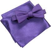 Alfani Men's Purple Pre-Tied Bow Tie & Pocket Square Set, Created for Macy's