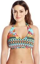 LaBlanca La Blanca Women's Plus-Size Garden Mosaics Halter Bra Bikini Top