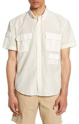 Billy Reid Standard Fit Short Sleeve Utility Shirt