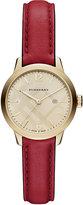 Burberry Women's Swiss Red Leather Strap Watch 32mm BU10102