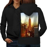 New York City Life Empire State Women S Hoodie Back | Wellcoda
