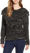 ASTR the Label &Marion& Fringe Detail Crewneck Sweater