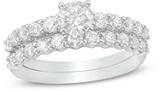 Zales 1-1/2 CT. T.W. Diamond Bridal Set in 14K White Gold