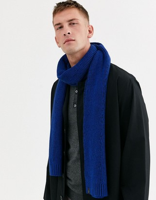 Ted Baker Plateit braid knit scarf in blue