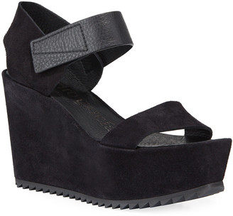 Pedro Garcia Farrah Wedge Calf Sandals