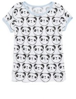 Mighty Fine Toddler Girl's Panda Ringer Tee