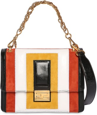 Fendi Kan U Suede & Leather Shoulder Bag