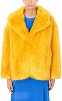 Diane von Furstenberg Yellow Faux Toscana Fur Jacket