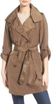 French Connection Women's Drape Back Trench Coat