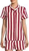 RED Valentino Women's Striped Camp Shirt