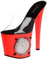 Pleaser USA Women's Lightning-701UV/C-R Platform Sandal