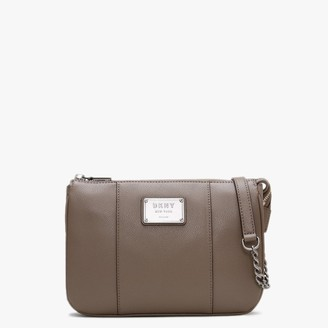 DKNY Columbus Mushroom Pebbled Leather Cross-Body Bag