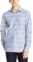 Stone Rose Men's Argyle Stripe Long-Sleeve Shirt