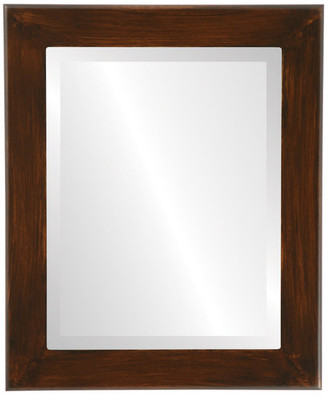 """The Oval And Round Mirror Store Cafe Framed Rectangle Mirror in Mocha, 24""""x28"""""""