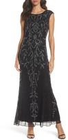 Pisarro Nights Women's Floral Motif Embellished Gown
