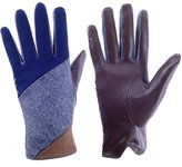Furoom lady's touch screen lamb leather glove RAINBOW