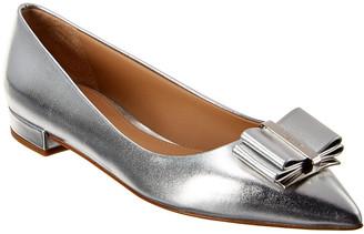 Salvatore Ferragamo Zeri Metallic Leather Ballet Flat